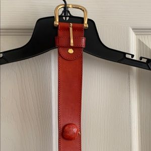 Accessories - Red Leather cherry belt